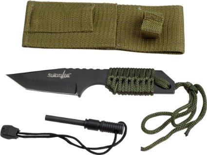 SE Outdoor Tanto Knife with Fire Starter